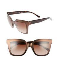 Tory Burch | Brown 51mm Sunglasses - Bronze | Lyst