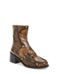TOPSHOP - Brown Loafer Bootie - Lyst
