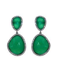Susan Hanover | Green Semiprecious Stone Drop Earrings | Lyst