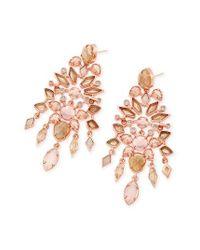 Kendra Scott | Pink Aryssa Statement Earrings | Lyst