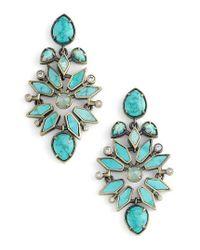 Kendra Scott - Blue Aurilla Drop Earrings - Lyst