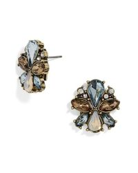 BaubleBar - Blue Evanthia Crystal Stud Earrings - Lyst