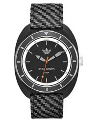Adidas Originals | Black Stan Smith Woven Strap Watch for Men | Lyst