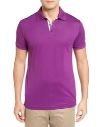 Bobby Jones | Purple Solid Pique Golf Polo for Men | Lyst