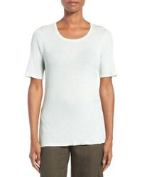 Eileen Fisher | White Featherweight Ribbed Merino Shell | Lyst