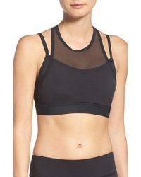 Reebok | Black Hero Strong Sports Bra | Lyst