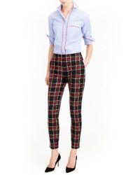 J.Crew - Gray Martie Stewart Plaid Stretch Wool Pants - Lyst