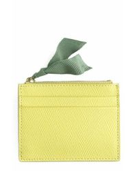 J.Crew - Yellow Small Leather Zip Wallet - Lyst