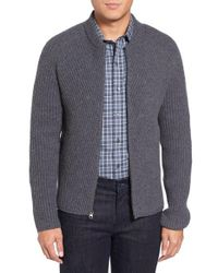 Zachary Prell   Gray Zip Wool & Cashmere Cardigan for Men   Lyst