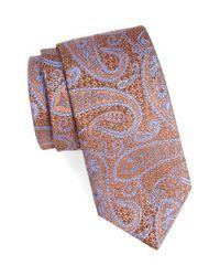 David Donahue | Brown Paisley Silk Tie for Men | Lyst
