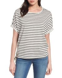Caslon | Black Caslon Side Tie Stripe Top | Lyst