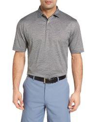 Peter Millar | Black Nanoluxe Golf Polo for Men | Lyst