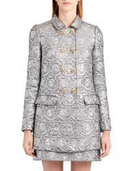 Dolce & Gabbana - Metallic Jacquard Caban Jacket - Lyst