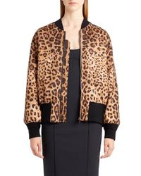 Dolce & Gabbana | Multicolor Leopard Print Bomber | Lyst
