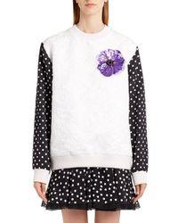 Dolce & Gabbana | White Dot Sleeve Embellished Sweatshirt | Lyst