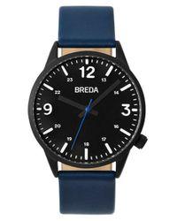 Breda | Black Slate Leather Strap Watch for Men | Lyst