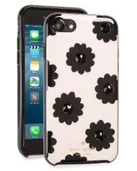 Kate Spade   Black Jeweled Floral Iphone 7 Case   Lyst