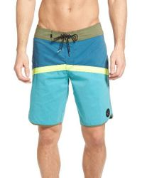 Quiksilver | Blue Crypto Scallop Board Shorts for Men | Lyst