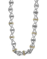 Lagos | Metallic Ksl Pyramid Link Chain Necklace | Lyst
