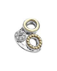 Lagos | Metallic Enso Diamond Pave Statement Ring | Lyst