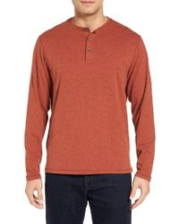 Tommy Bahama | Orange Quick Wick Henley for Men | Lyst