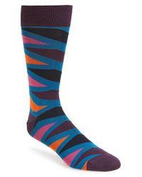 Bugatchi | Blue Hidden Twilight Socks for Men | Lyst