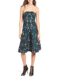 Keepsake | Multicolor Night Dance Strapless Midi Dress | Lyst