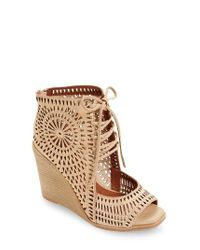 Jeffrey Campbell | Multicolor Rayos Perforated Wedge Sandal | Lyst