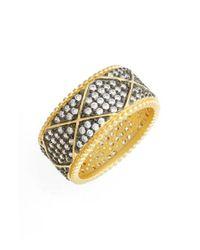 Freida Rothman | Metallic Contemporary Deco Pave Eternity Ring | Lyst