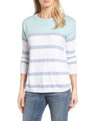 Vineyard Vines | Blue Stripe Cotton Sweater | Lyst
