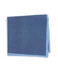 Calibrate | Blue Pin Dot Cotton & Silk Pocket Square for Men | Lyst