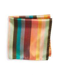 Paul Smith   Multicolor Silk Pocket Square for Men   Lyst