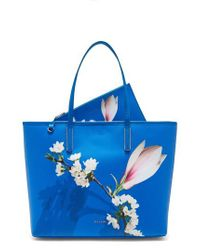 Ted Baker - Blue Beckkaa Harmony Print Canvas Tote Bag - Lyst
