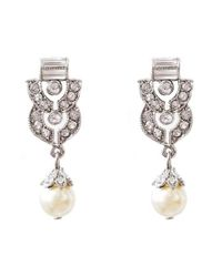 Ben-Amun | Metallic Ben X Imitation Pearl Drop Earrings | Lyst