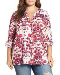 Lucky Brand | Multicolor Vintage Print Top | Lyst
