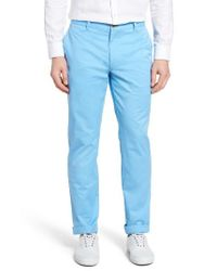 Vineyard Vines | Blue Breaker Flat Front Stretch Cotton Pants for Men | Lyst