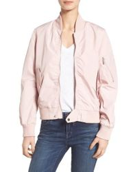 French Connection | Natural Bomber Jacket | Lyst