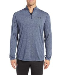 Under Armour   Blue Threadborne Quarter-zip Performance Shirt for Men   Lyst