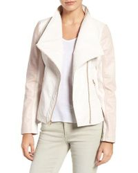 Guess | White Asymmetrical Faux Leather Jacket | Lyst