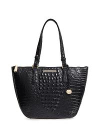 Brahmin | Black Willa Croc Embossed Leather Tote | Lyst