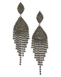 Tasha | Black Crystal Drop Earrings | Lyst
