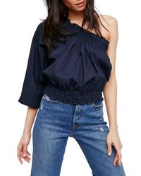 Free People - Blue Anabelle One-shoulder Top - Lyst