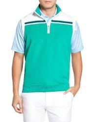 Bobby Jones   Green Xh2o Stretch Quarter Zip Golf Vest for Men   Lyst