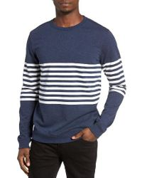 RVCA | Blue New Sins Stripe Sweatshirt for Men | Lyst