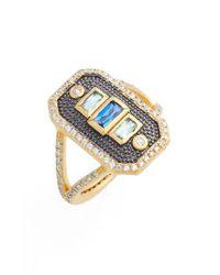 Freida Rothman - Metallic Modern Mosaic Cocktail Ring - Lyst