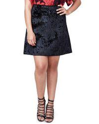 Rachel Roy   Black Welt Pocket A-line Skirt   Lyst