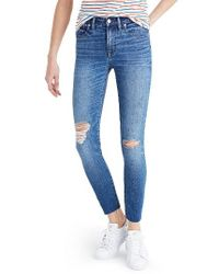 Madewell | Blue Crop Jeans | Lyst