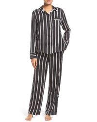 DKNY | Black Stripe Pajamas | Lyst
