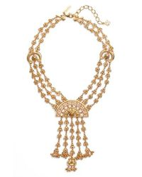 Oscar de la Renta | Metallic Ornate Charm Necklace | Lyst