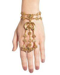 Oscar de la Renta - Metallic Ornate Hand Chain - Lyst